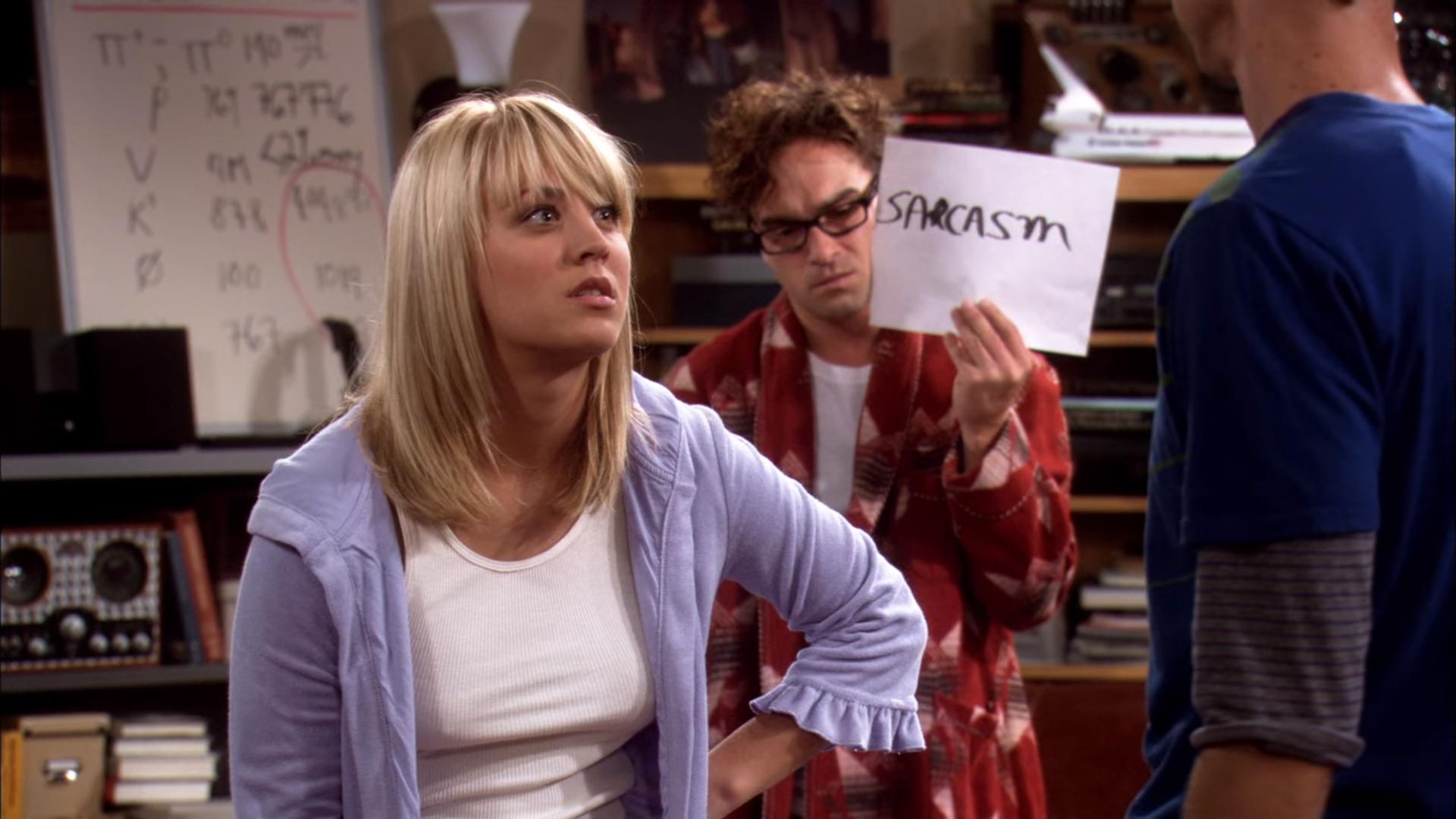 The big bang theory - sarcasmo